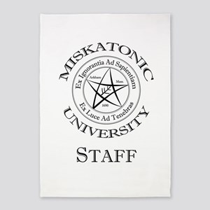 Miskatonic-Staff 5'x7'Area Rug